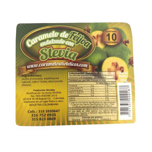Caramelos con stevia 45g