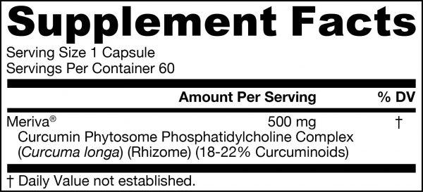Tabla nutricional Curcumin