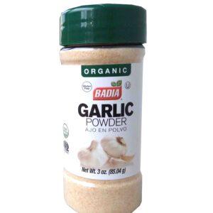 ajo orgánico en polvo de referencia