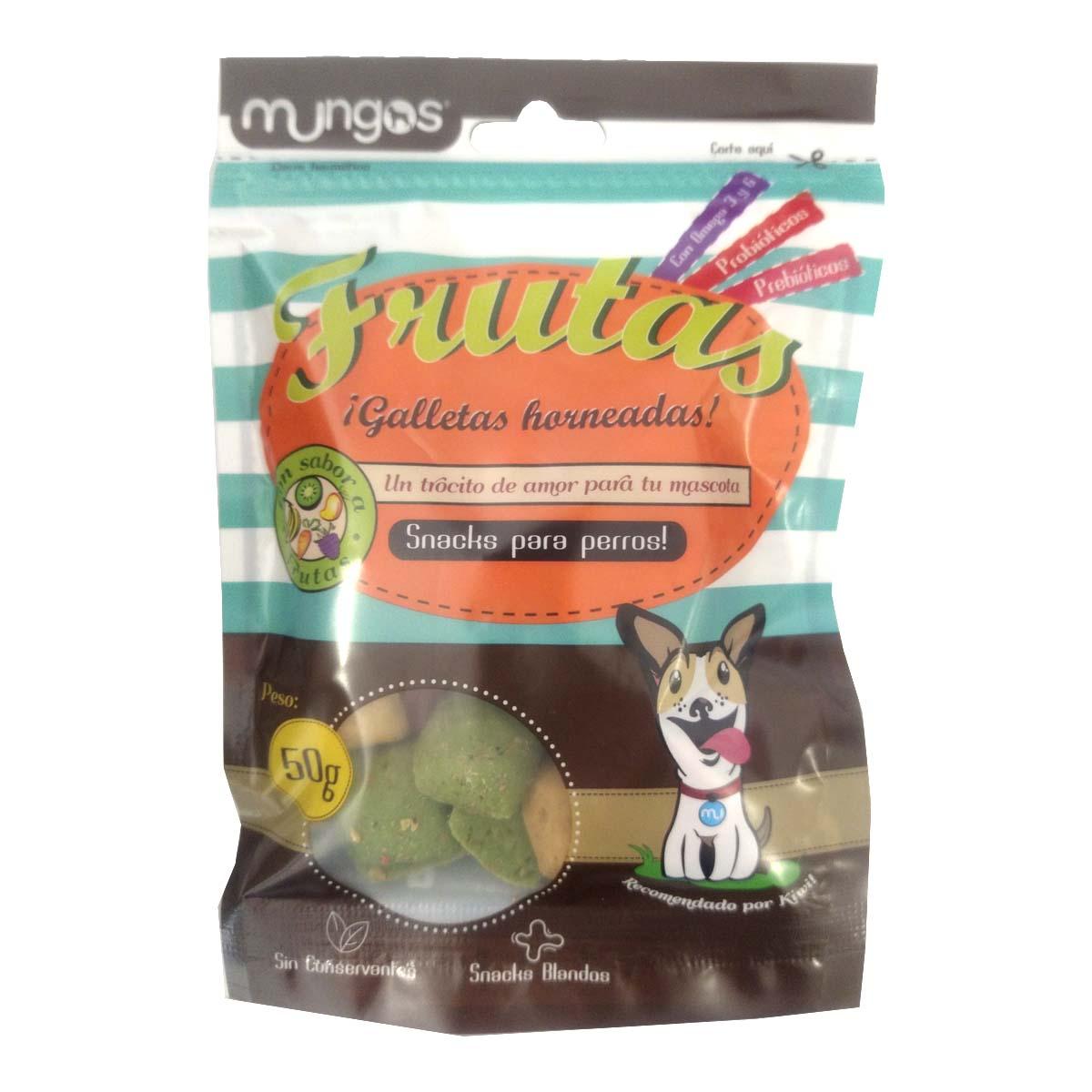 Deliciosas galletas blandas para perros tipo gourmet con sabor a frutas, que llenarán de alegría el paladar de tu mejor amigo. Galletas funcionales formuladas para perros de 5 meses en adelante. SABOR INSUPERABLE – Enrriquecidos con prebióticos y probióticos, omega 6 y 3.