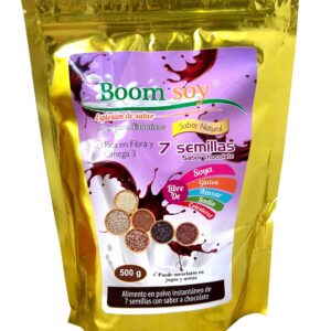 Leche 7 semillas chocolate 500g Boomsoy