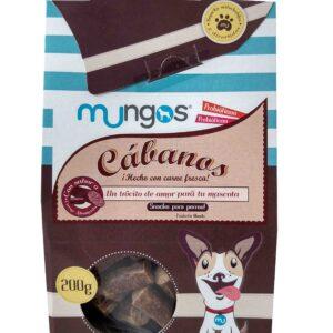 Deliciosos snacks cábanos elaborados con carne fresca. Productos cárnicos ahumados para perros de tres meses en adelante. Enriquecidos con probióticos y prebióticos que contribuyen a la salud intestinal del peludito.