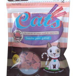 DeliciosasGALLETASblandas para gatos con sabor a pollo que llenará de sabor el paladar de tu gato. Formulado especialmente para gatos de 6 meses en adelante .Enriquecidos con prebióticos, probióticos y omega 6 y 3.