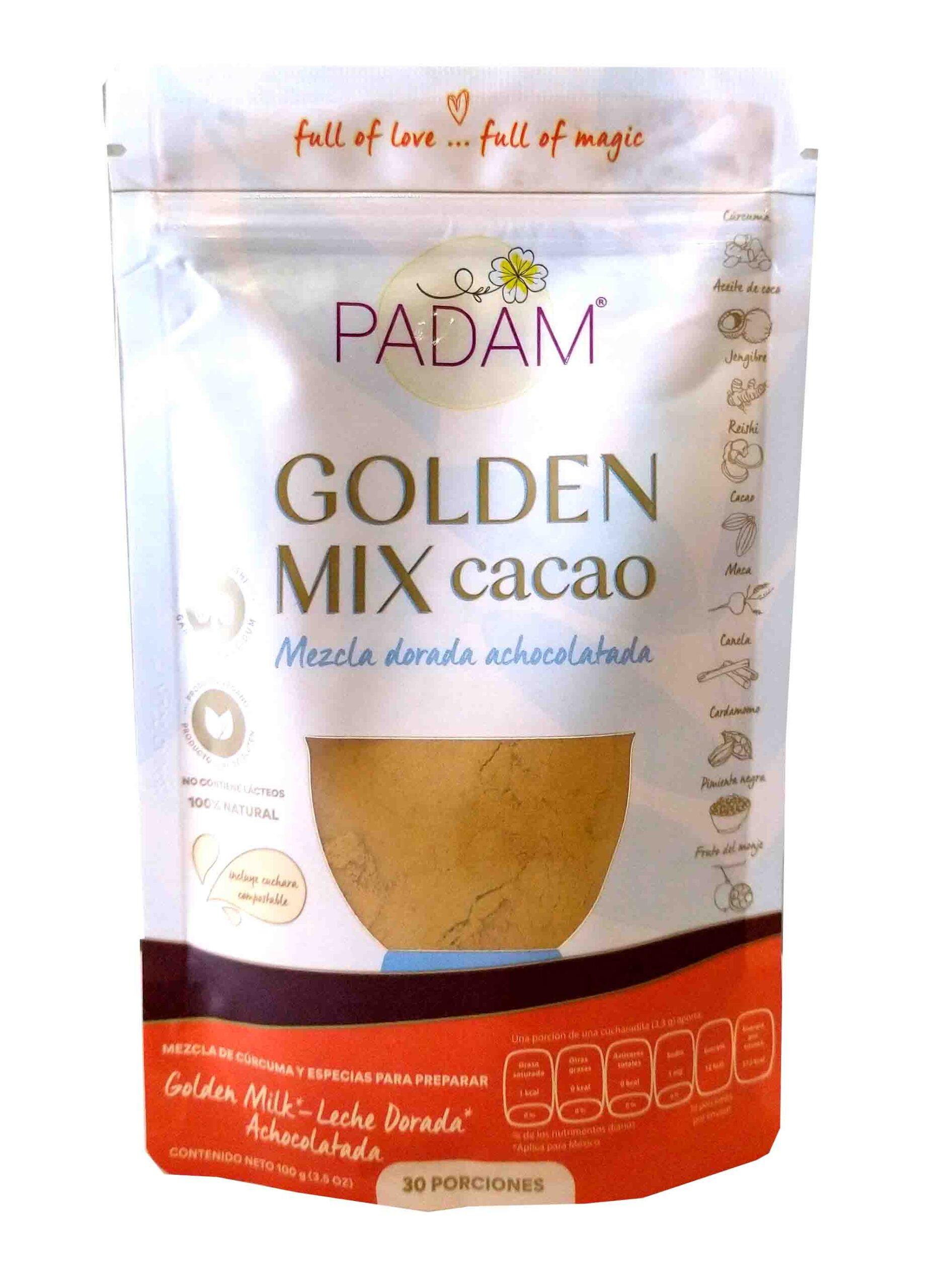 Leche dorada padam cacao