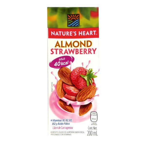 Leche de almendras sabor a fresa, sin lactosa