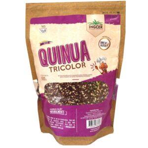 La semilla de quinua real o quinoa mix (blanca, roja y negra), es un alimento milenario. Es un pseudocereal (Chenopodium quinua) con alto contenido proteico (38%), tiene todos los aminoácidos esenciales, lo que lo hace uno de los vegetales más nutritivos que existen, No contiene gluten, es una fuente de calcio importante, prueba nuestra Semilla quinua real mix grano orgánico.