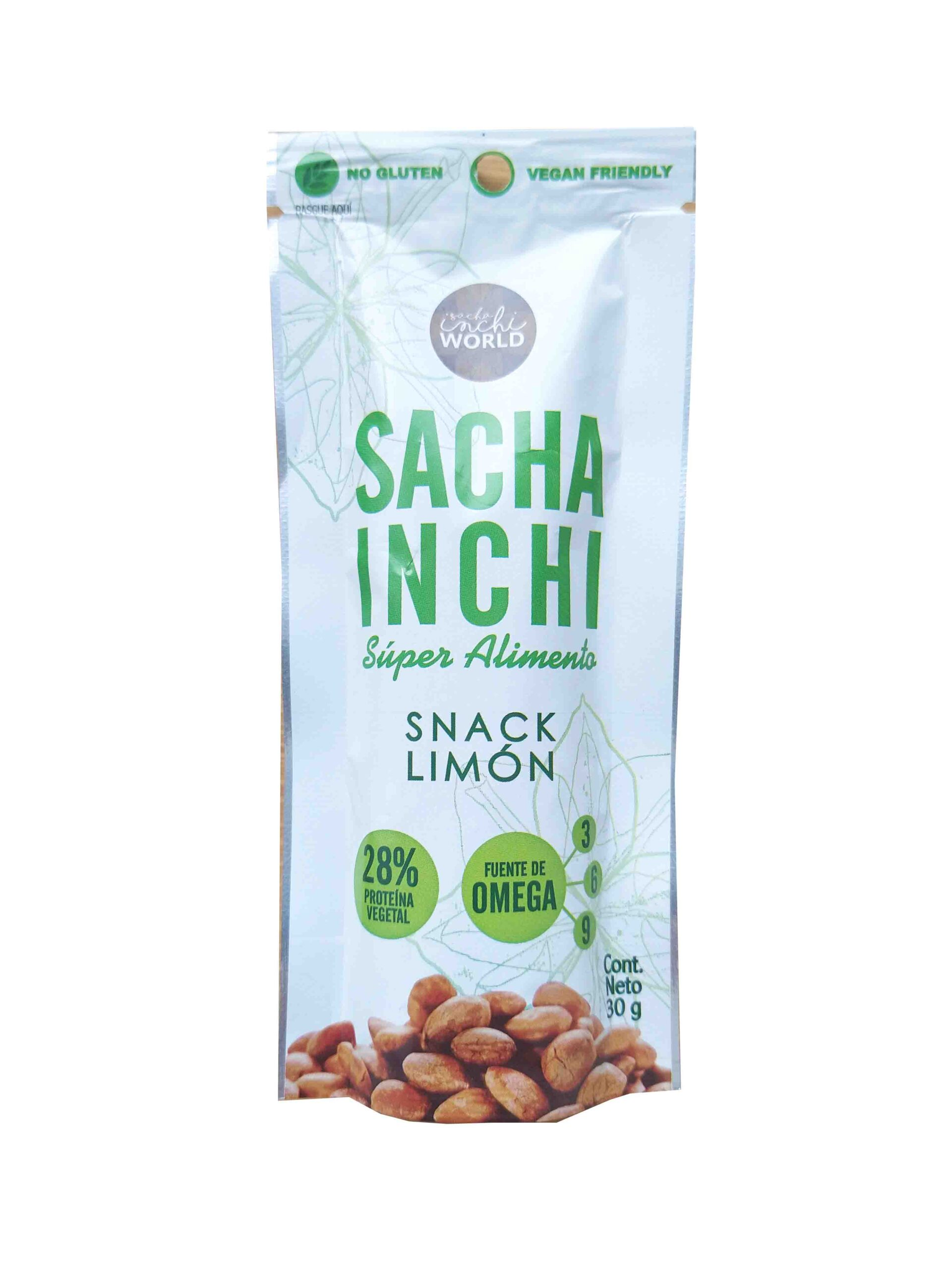 Snack de Sacha inchi Limón 30g InchiWorld