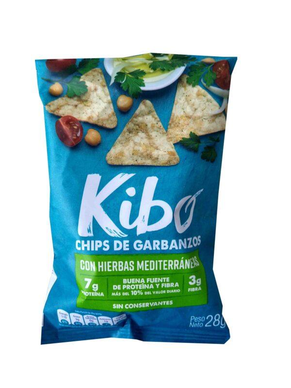 Chips de garbanzos hierbas 28g Kibo