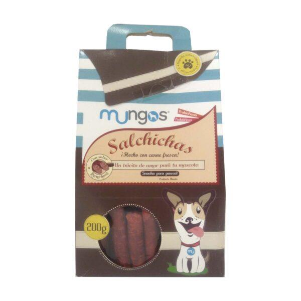 Suplemento en snack tipo salcicha, elaborado con carne fresca, para cachorros y perros maduros.
